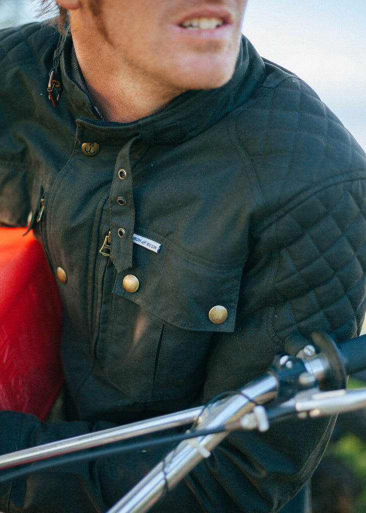 Iron & Resin Enduro Jacket Men's Riding Jacket Waxed Cotton Canvas