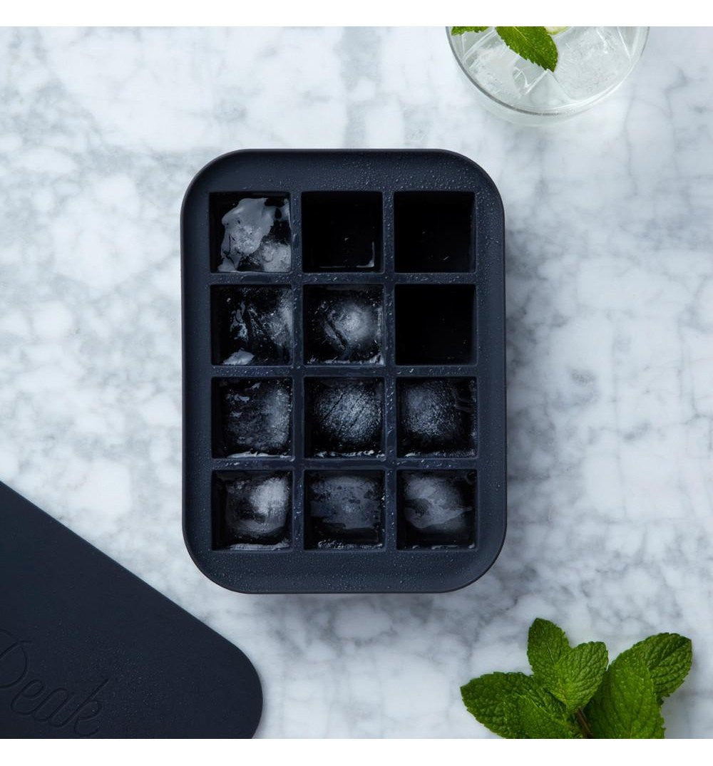 W & P Everyday Ice Cube Tray, Charcoal - Kitchen/Bar - Iron and Resin