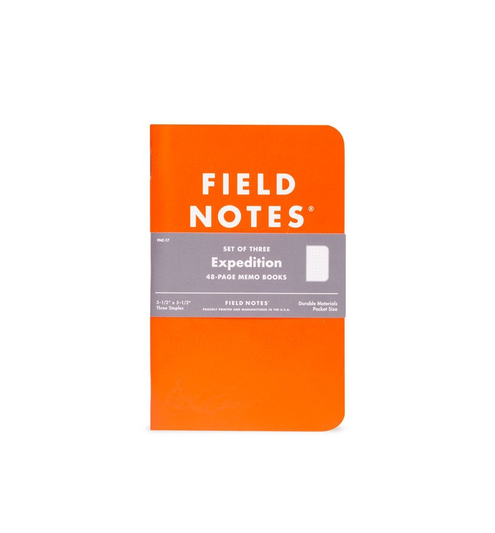 Field Notes EXPEDITION 3-PACK - Orange - Dot Graph 3-Pack - Home Essentials - Iron and Resin