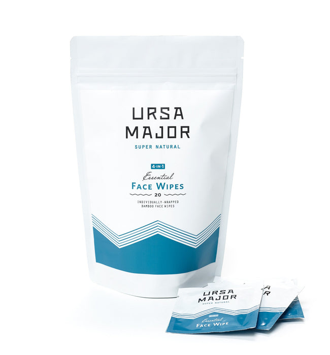Ursa Major Essential Face Wipes, 20-count - Grooming: Skin - Iron and Resin