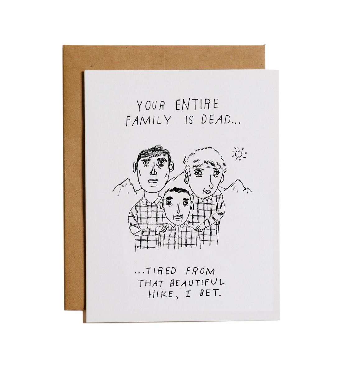 Mountain vs. Plains - Family Is Dead Tired Card - Art/Prints - Iron and Resin