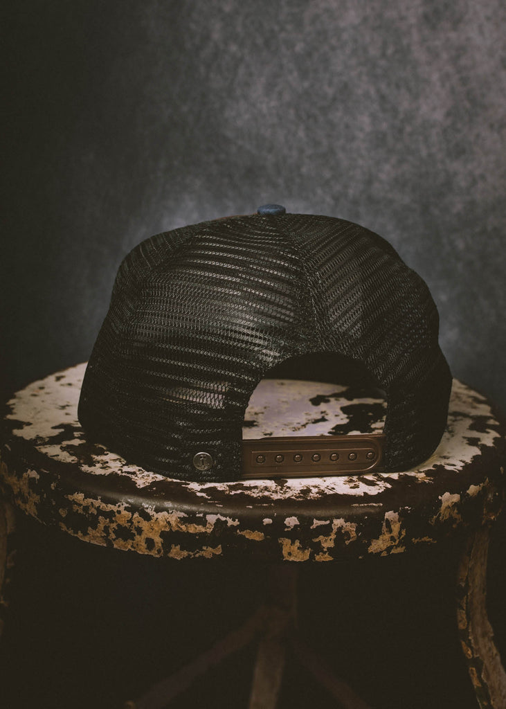 Iron & Resin Field Hat Snapback in Brown
