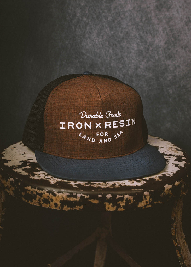 Iron & Resin Field Hat in Brown