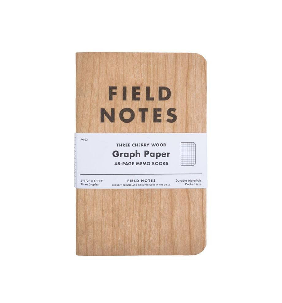 Field Notes Cherry Graph 3pk - Accessories: Journals - Iron and Resin