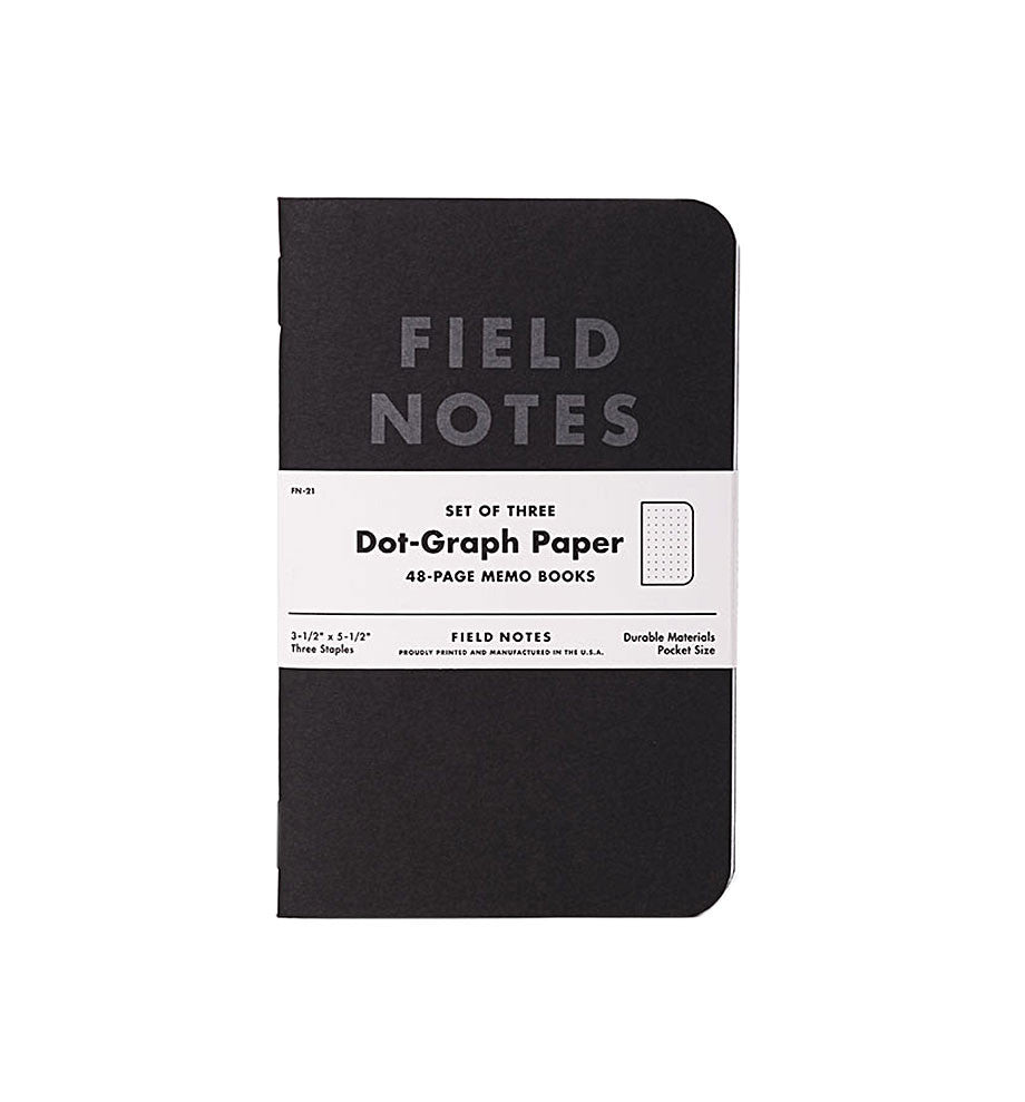Field Notes Notebooks- Pitch Black