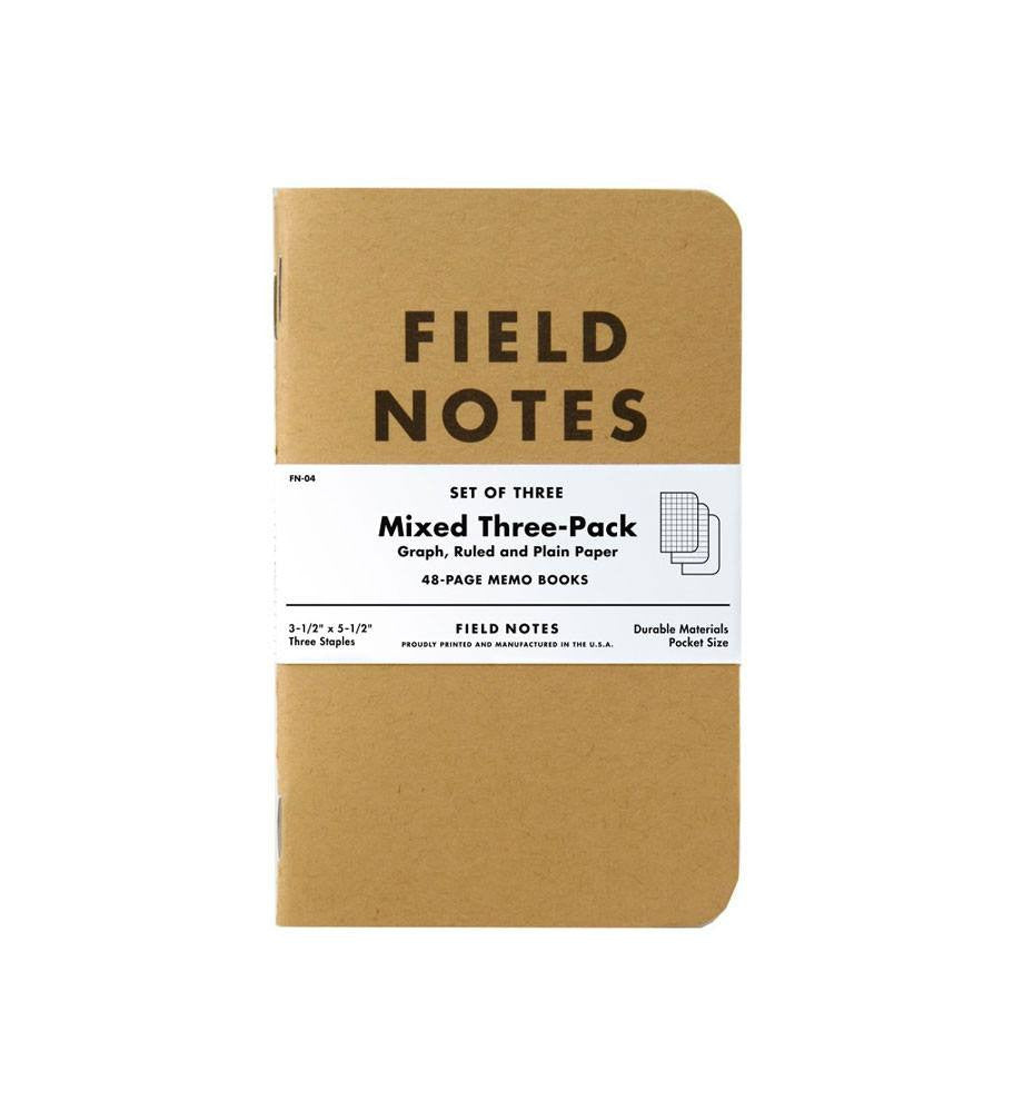 Field Notes Original Mixed Notebooks - Accessories: Journals - Iron and Resin