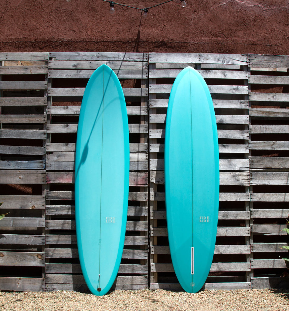 Fineline Surfboards - 7'6 Egg, Aqua