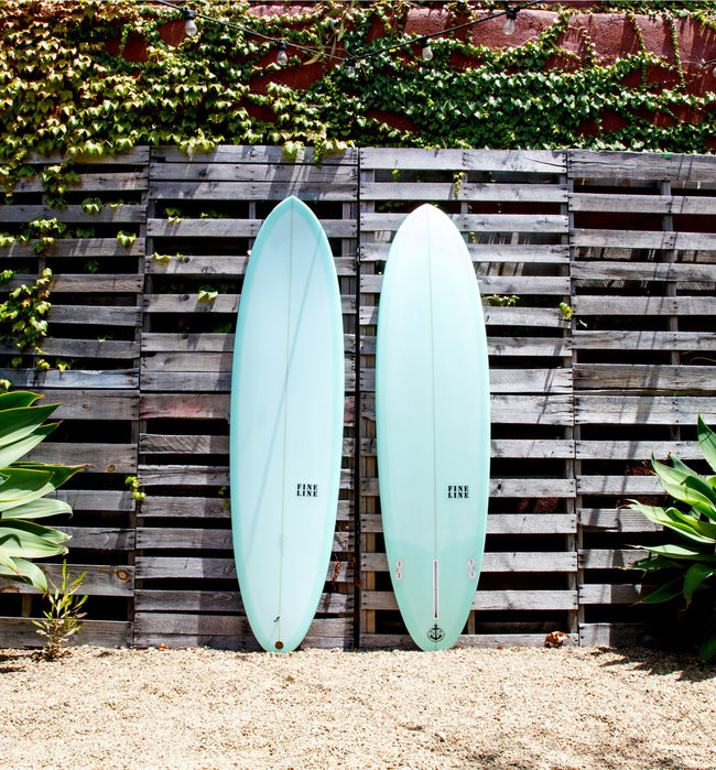 Fineline Surfboards Egg 2+1, Seafoam 7' - Surf - Iron and Resin
