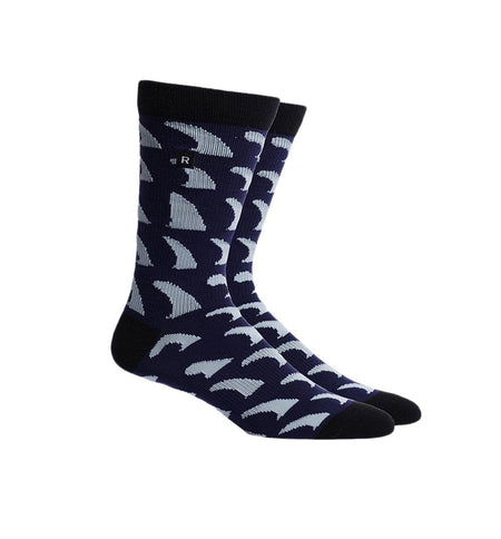 Richer Poorer Inc Fins Sock - Navy Multi - Socks/Underwear - Iron and Resin