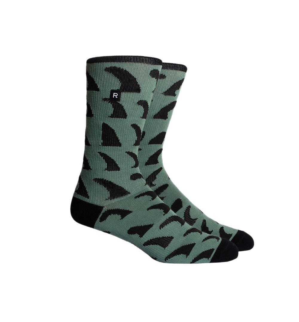 Richer Poorer Inc California - FINS Sock - Teal - Socks/Underwear - Iron and Resin