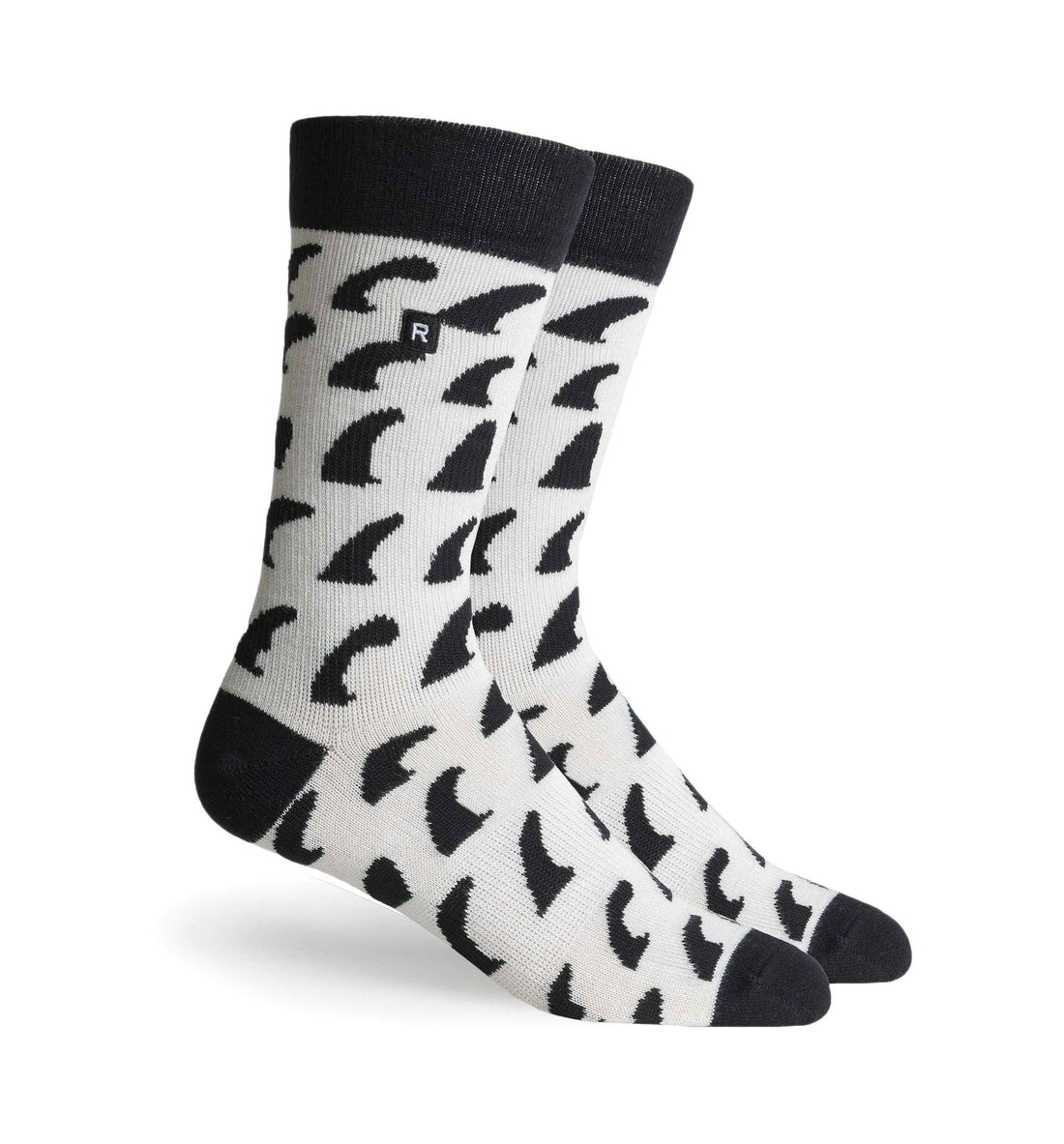 Richer Poorer Inc Fins Sock - White Black - Socks/Underwear - Iron and Resin