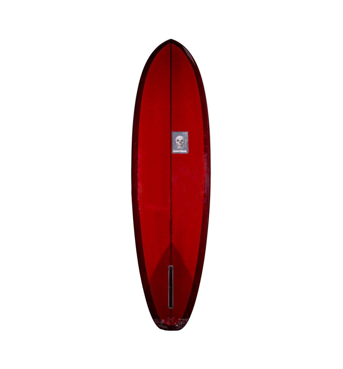 christenson surfboards flat tracker red tint 6 10 iron and resin