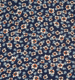 Vintage Navy Blue Micro Floral Skirt