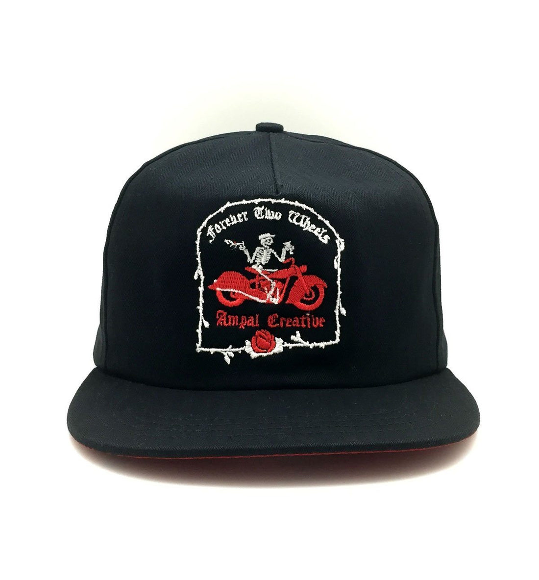 The Ampal Creative Forever Two Wheels Strapback - Black - Headwear - Iron and Resin