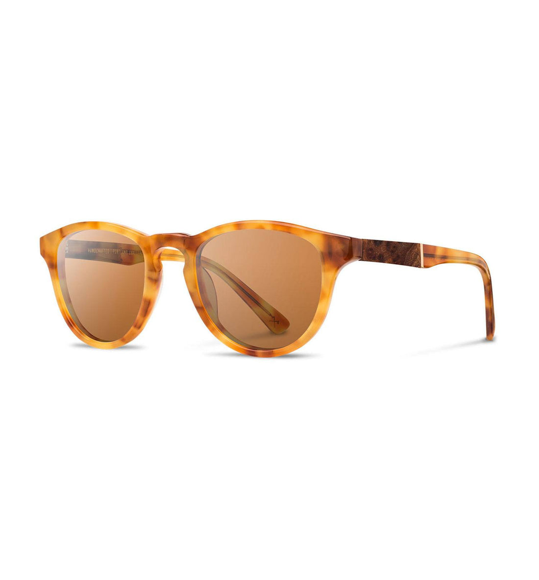 Shwood Francis, Amber // Elm - Brown - Accessories: Eyewear - Iron and Resin
