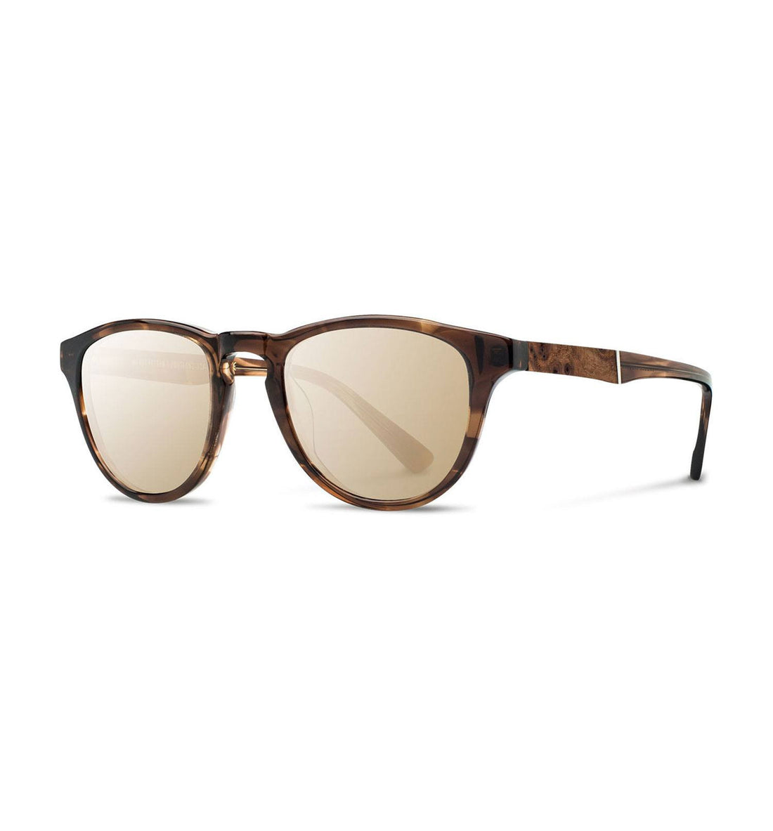 Shwood Francis, Bourbon // Elm Burl, Gold Mirror - Accessories: Eyewear - Iron and Resin