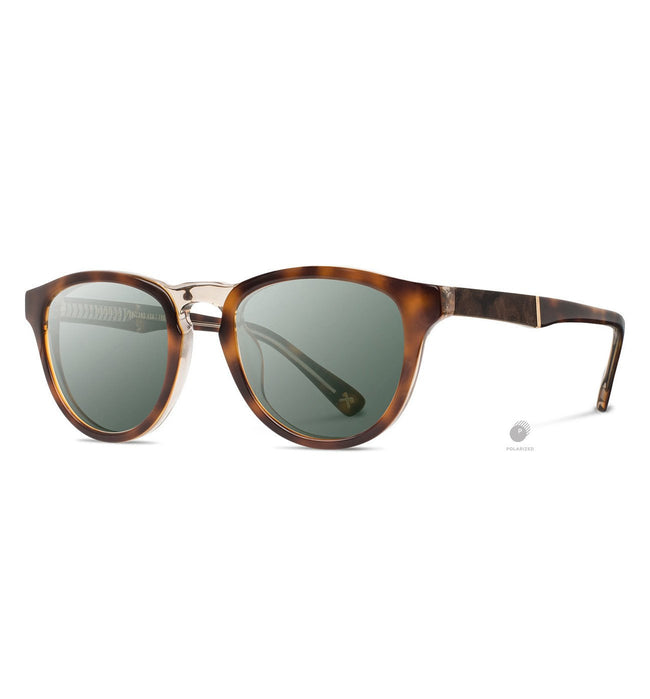 Shwood Francis, Brindle // Elm Burl - G15 Polarized - Accessories: Eyewear - Iron and Resin