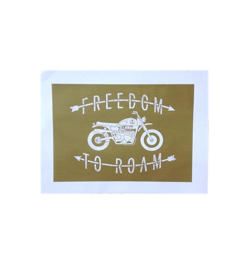 Iron & Resin Hand Printed Freedom to roam poster - Stickers/Pins/Patches - Iron and Resin