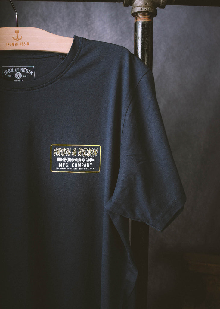 Iron & Resin Navy Frontier Tee  Pocket Graphic