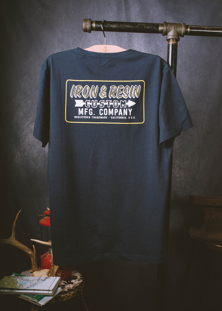 Iron & Resin Navy Frontier Tee Back Graphic
