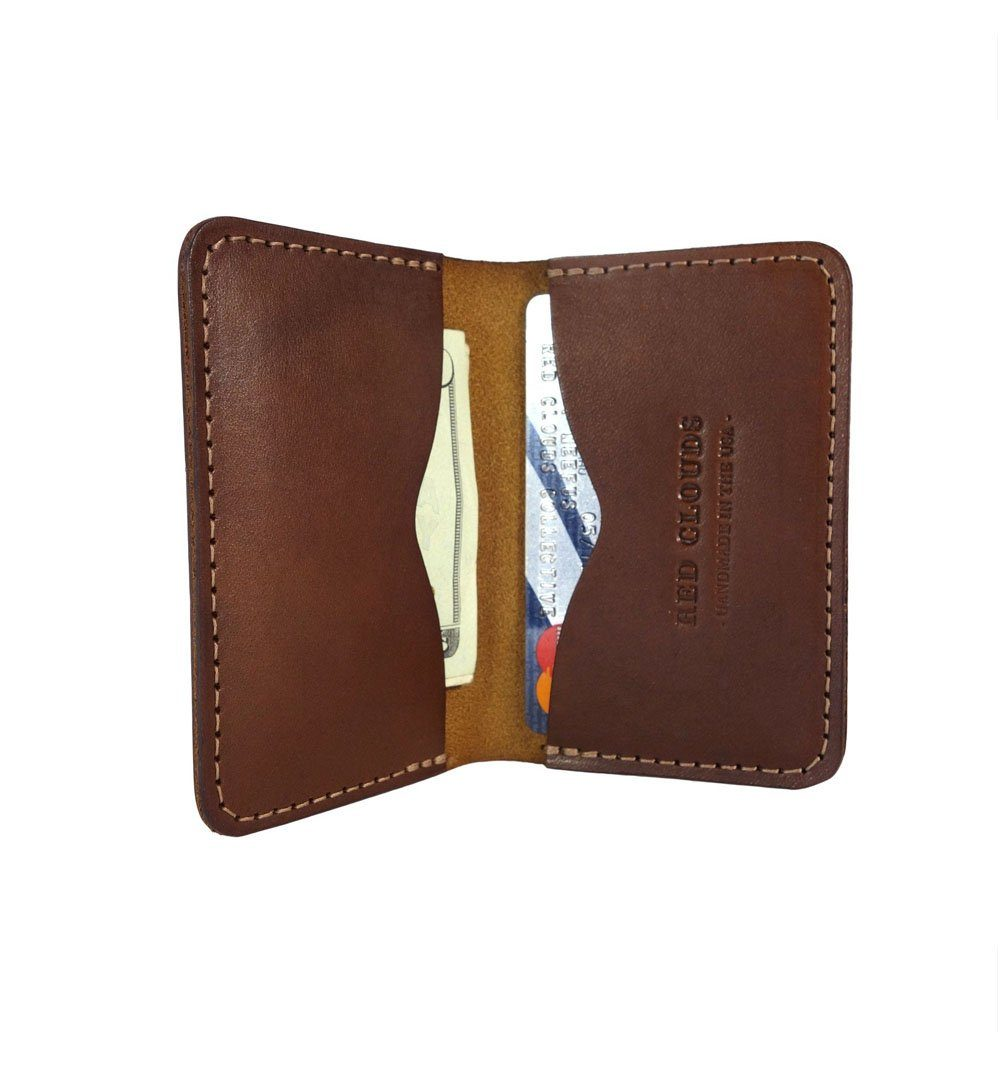Red Clouds Collective Frontside Horizontal Wallet - Walnut - Carry Essentials - Iron and Resin