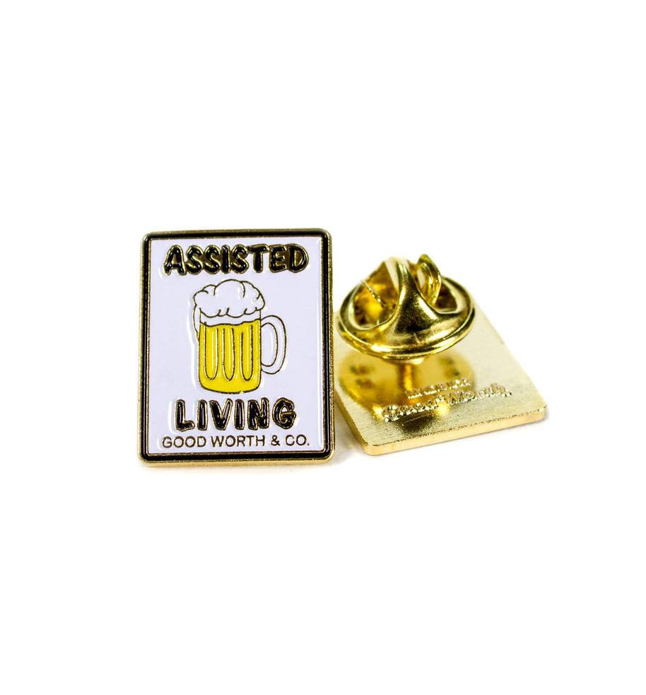 Good Worth- Assisted Living Beer Pin - Accessories: Pins - Iron and Resin