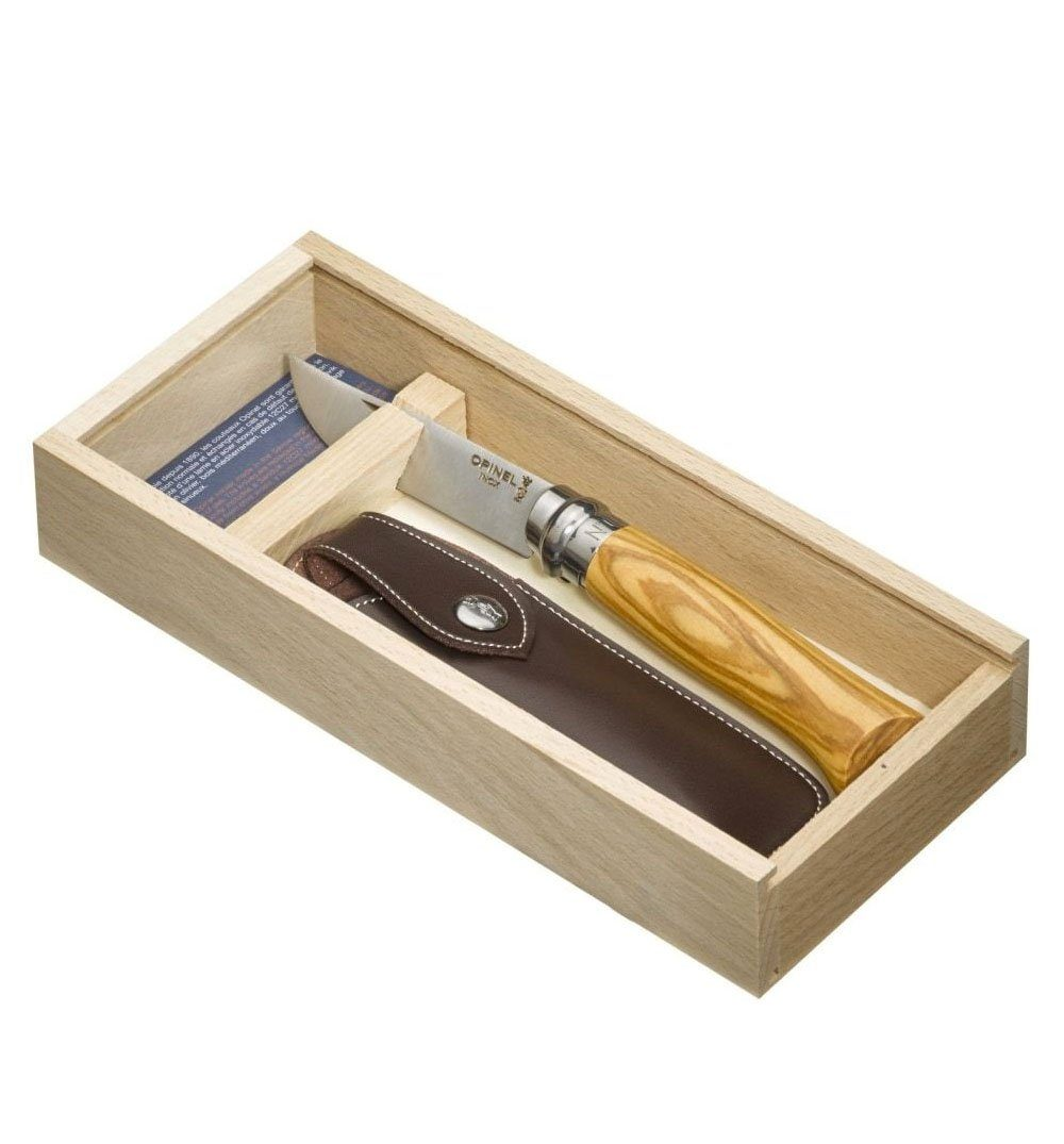 Opinel N°08 Wooden gift box - Stainless/Olive Wood - Outdoor Living/Travel - Iron and Resin