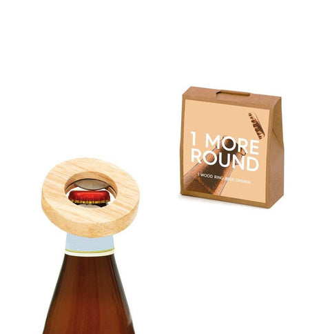 Teroforma Bottleneck Min Gift Tag - 1 More Round - Kitchen/Bar - Iron and Resin