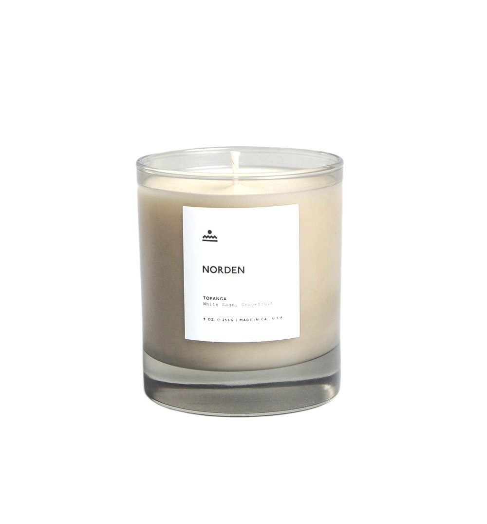 Norden Goods Topanga 9 oz. Glass Candle - Home Essentials - Iron and Resin