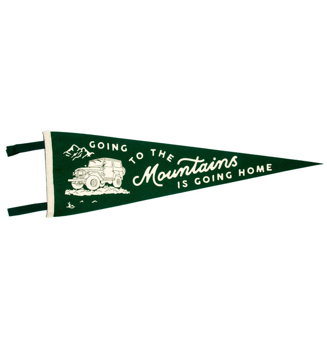 Oxford Pennant - Going To The Mountains - Houseware - Iron and Resin