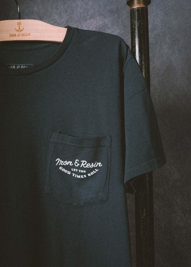 Iron & Resin Good Times Tee Pocket Graphic in Black