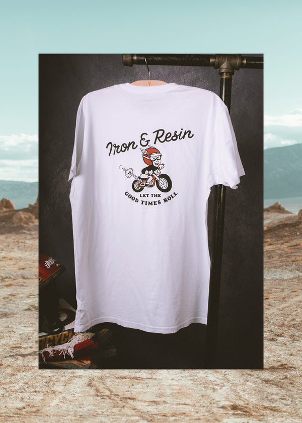 Iron & Resin Good Times Tee Back Graphic in White