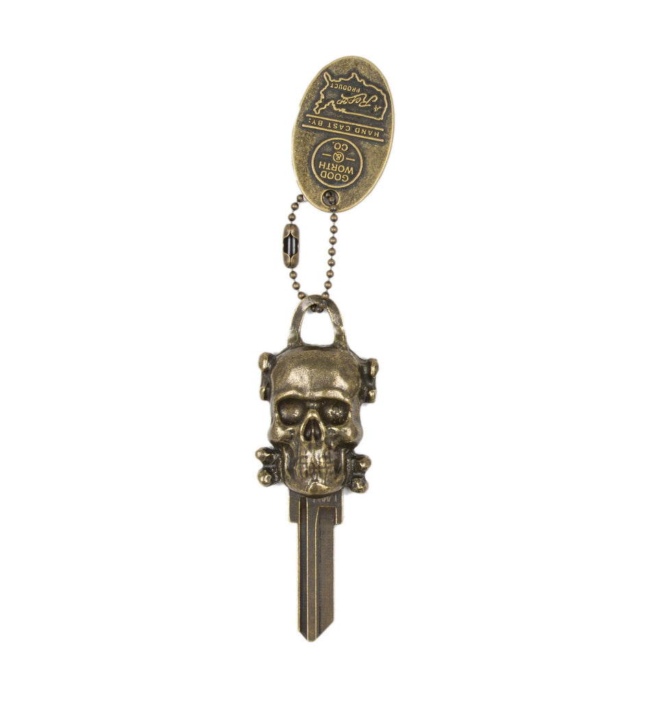 Good Worth Skull Keychain