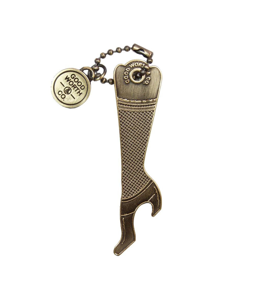 Good Worth- Leg Bottle Opener - Accessories: Keychains - Iron and Resin