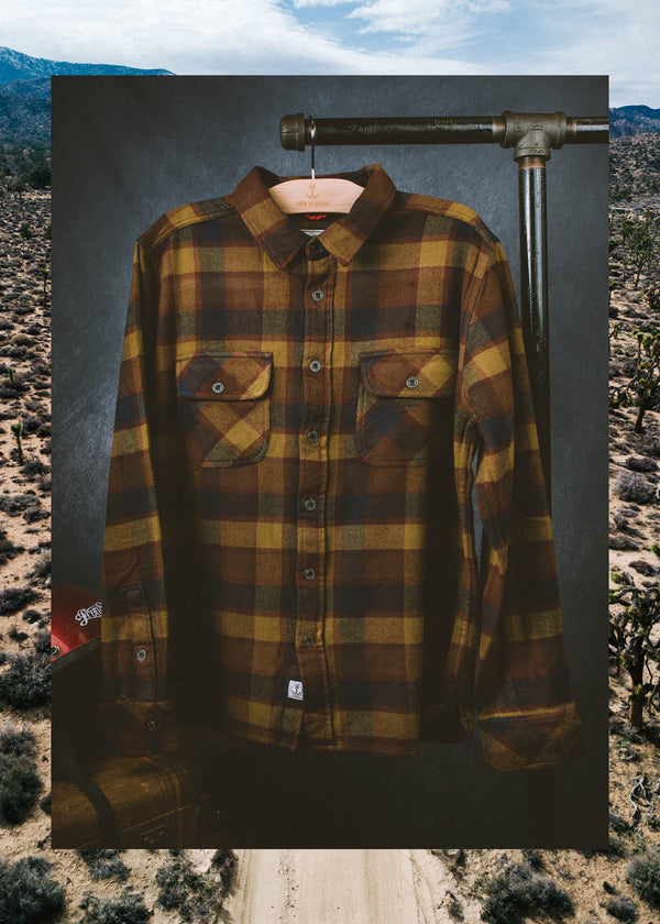 Iron & Resin Greyson Flannel in Timber