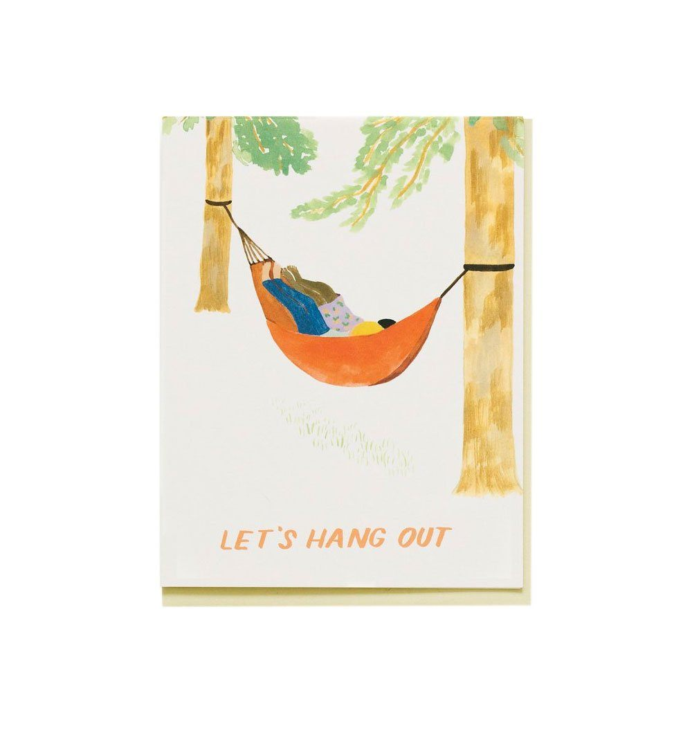 Small Adventure Hammock Hangout Card - Art/Prints - Iron and Resin