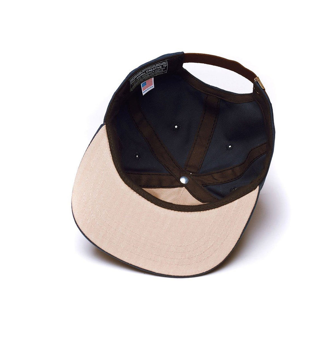 The Ampal Creative California Pennant Strapback - Black - Headwear - Iron and Resin