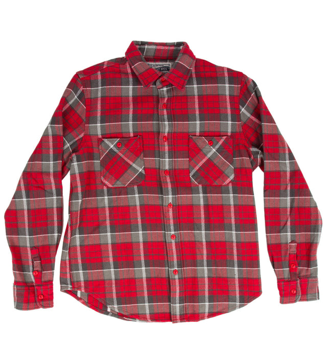 Schott Heavy l/s Flannel Woven Shirt - Apparel: Men's: Wovens - Iron and Resin