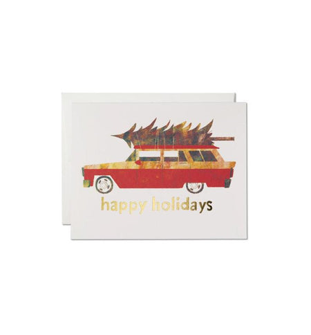 Red Cap Cards, Holiday Chevy - Art/Prints - Iron and Resin