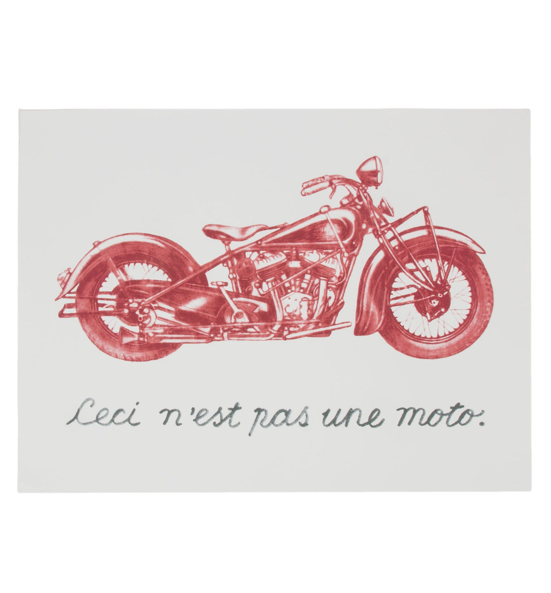 Not A Moto Poster - Art/Prints - Iron and Resin