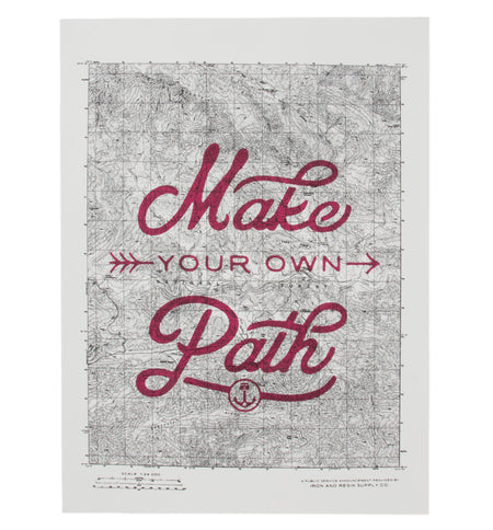 INR Make Your Own Path Poster - Stickers/Pins/Patches - Iron and Resin