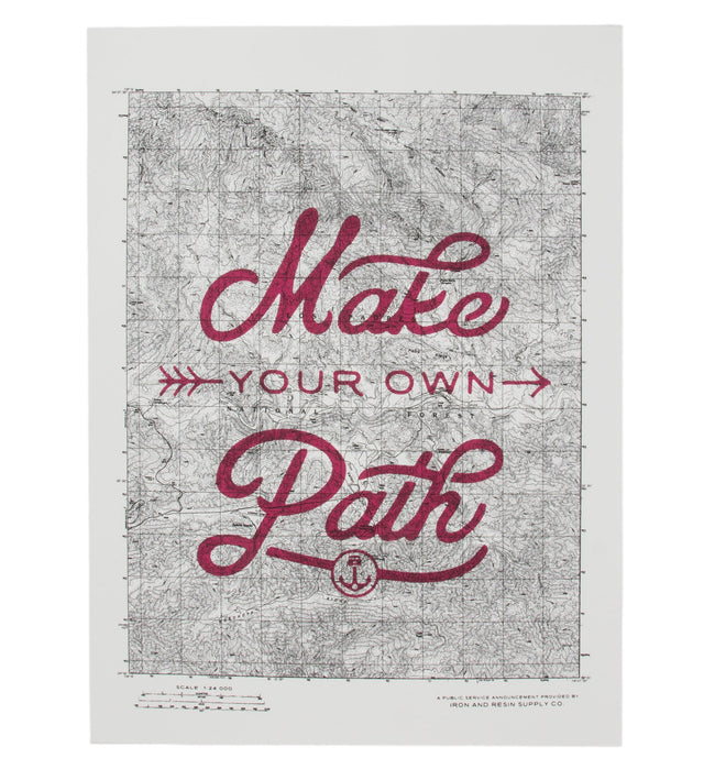 INR Make Your Own Path Poster - Accessories: Posters - Iron and Resin