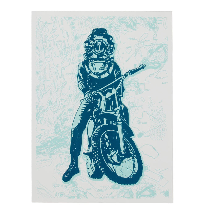 INR Moto Diver Poster - Accessories: Posters - Iron and Resin