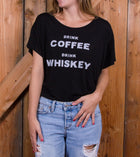 Drink Coffee Women's Boxy Tee - Tops - Iron and Resin