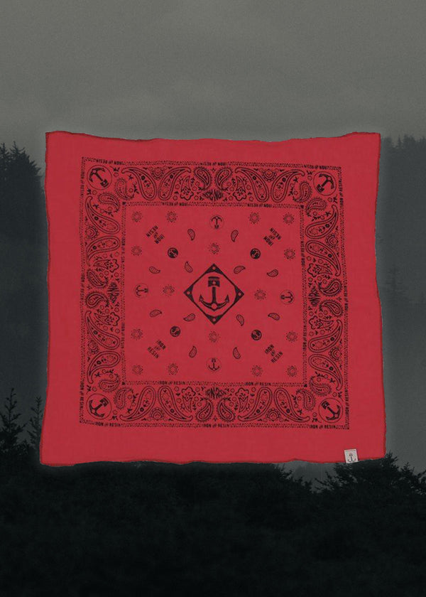 Iron & Resin Red OG Bandana