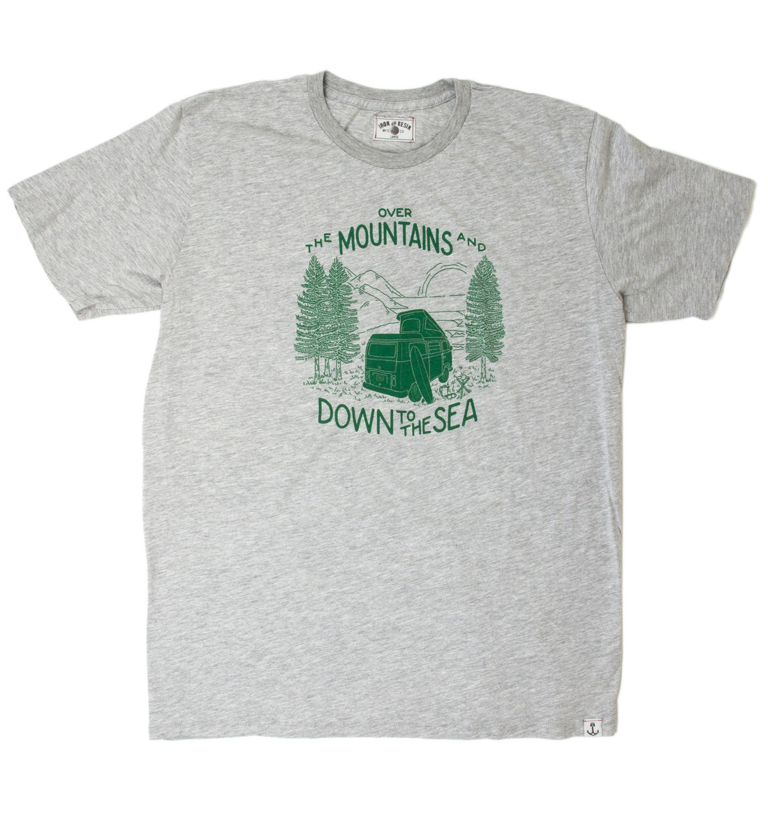 INR Over The Mountains Tee - Apparel: Men's: Graphic T-Shirts - Iron and Resin