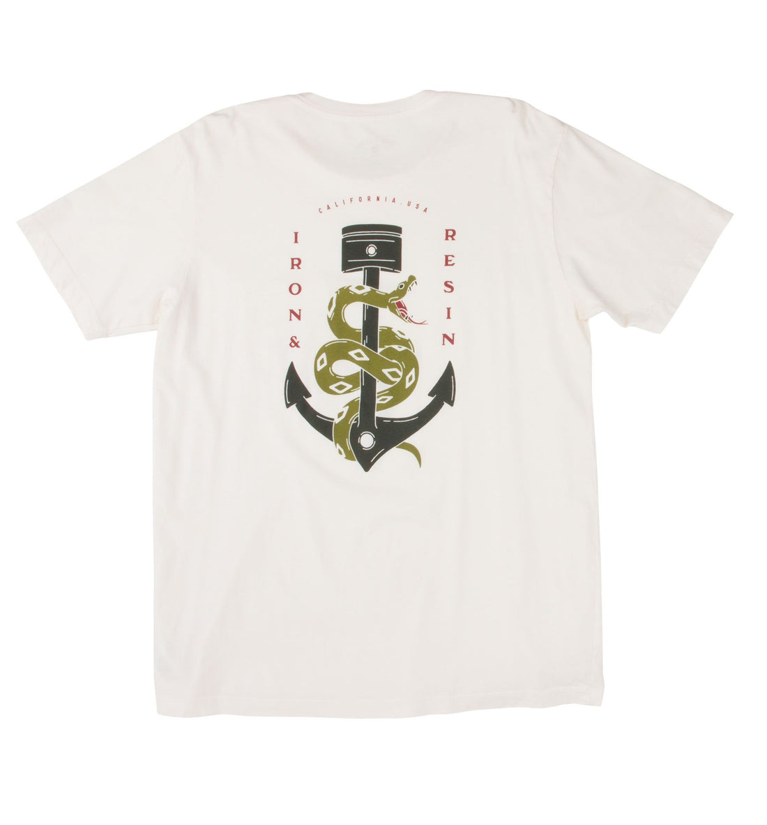 Anchor Snake Pocket Tee - Tops - Iron and Resin