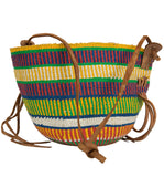 Vintage Handwoven Multi Color Beach Bag