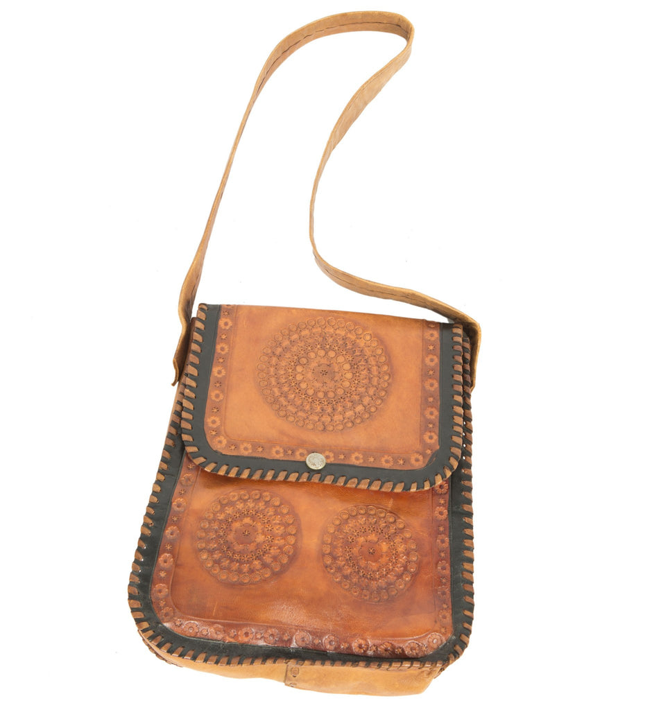 Vintage Tooled Shoulder Bag