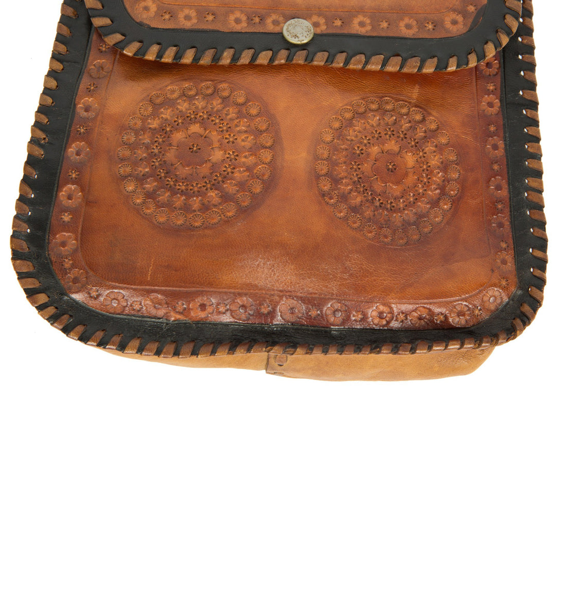 Vintage Tooled Shoulder Bag - Vintage: Women's - Iron and Resin